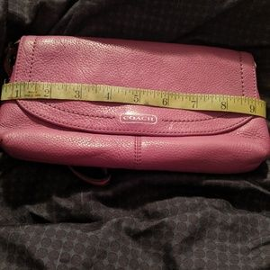 Beautiful pink leather Coach clutch/wallet